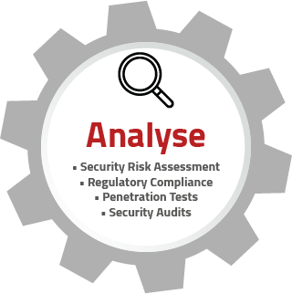 Infografik zur Analyse im IT-Security Consulting